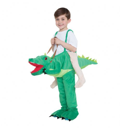 Childrens Crocodile Step In Childs Costume Aligator Tick Tock Fancy Dress Outfit